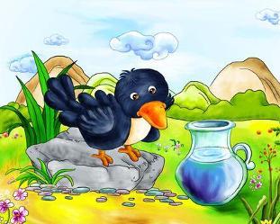 乌鸦 喝 水 英文 版
