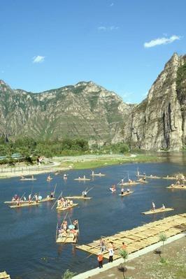 野蘑菇户外9月12日周六十渡竹筏,拒马河漂流
