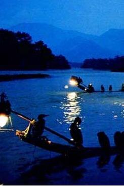 端午旅行。楠溪江。篝火晚会+烤全羊+九漈瀑布等等