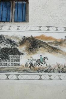 骑单车游壁画中的村庄~萌坑