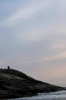 暑假7月4号5号舟山海边露营篝火晚会烧烤露天电影