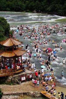 8月6-7日,福建白水洋嬉水露营