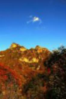 10月6日,顺平白银坨登山看红叶寻宝活动