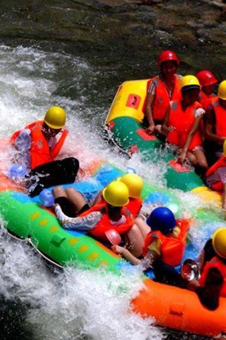 最好的季节,一起去霍山大峡谷漂流吧!