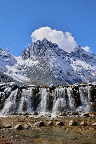 【周末毕棚沟两日游】四季山水冬天醉美雪山瀑布温泉游