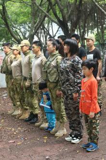 东升真人cs野战营3月22日上午(免费)训练