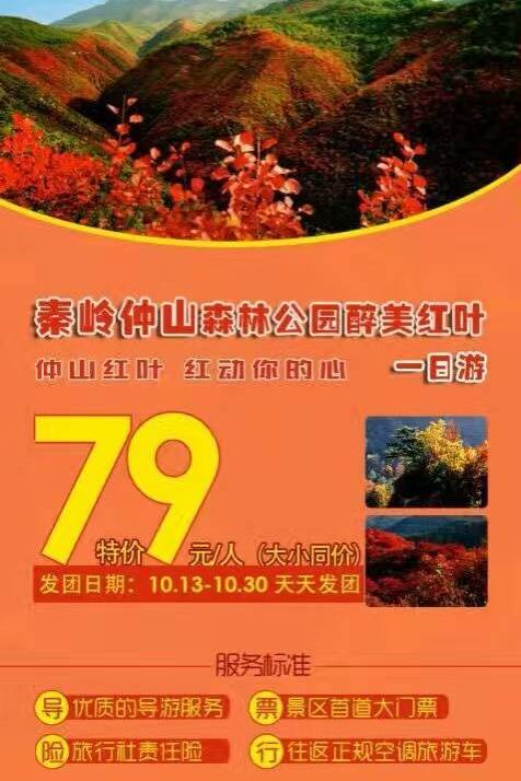 10.15仲山森林公园赏红叶一日游
