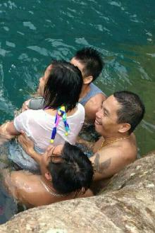 八月七号五桂山游泳(男A 女免)
