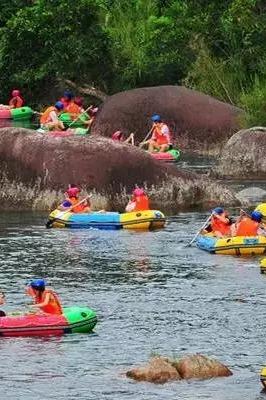 7月9日十渡登山漂流竹筏烧烤湿身戏水撒野