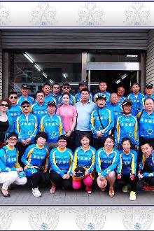 6月27日,丹东骑行队相约环五龙山骑游