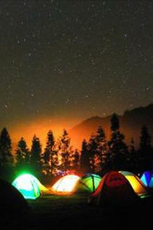 ''相约星空下,露营自然中''石林长湖露营活动方案