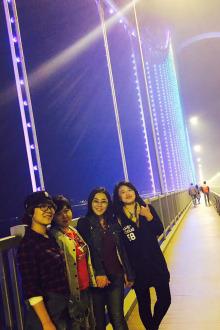觅源户外夜徒跨海大桥
