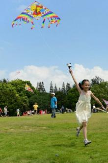 夏禹公园放风筝