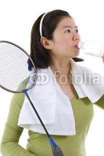 球馆羽毛球运动