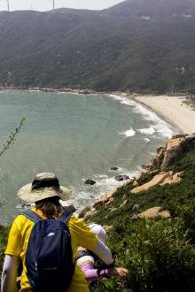 2017年1月1号元旦高栏港海岸线环保捡垃圾活动