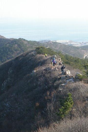 12月6日旅顺老铁山爬山、徒步、赏黄渤海分界线