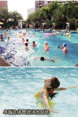 龙岗中心城奥林华府游泳池游泳