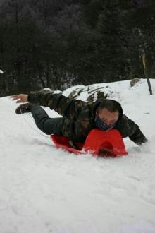 周末古尔沟去看雪