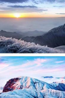 元旦冬雪武功山