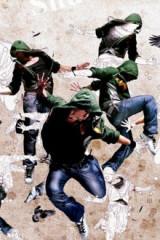鄱阳街头文化舞者交流会
