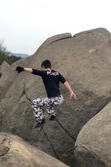 周六石头山攀爬