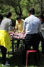 亚心户外3月27日 组织摘桃、烧烤、酒会交友活动