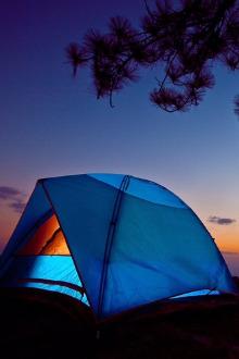 莲花湖露营体验活动
