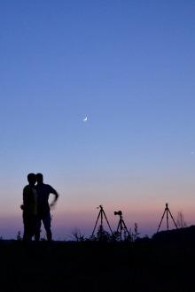 60、70后摄影爱好者相约美丽星空下露营摄影交友活动