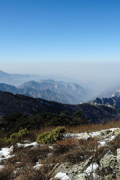 2015年11月8日(周日)洛南第一峰—草链岭赏雪