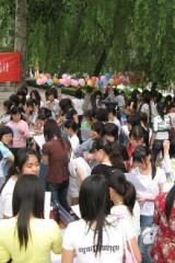 陕北大学生组织老乡同盟会志愿服务