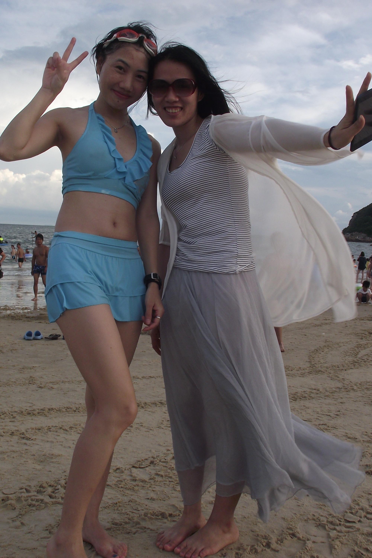 8月16日惠州熊猫金海岸野炊踩单车、骑马、沙滩游泳
