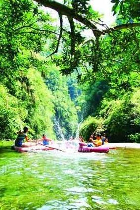 杉木河漂流两日游
