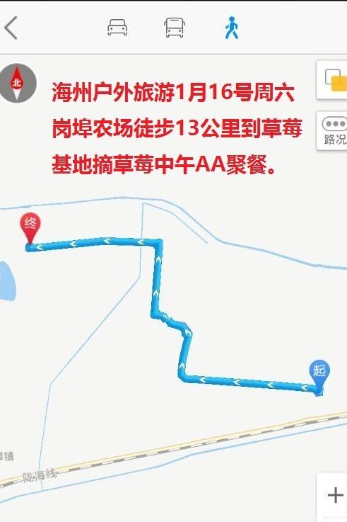 1月16号周六徒步13公里摘草莓中午AA聚餐