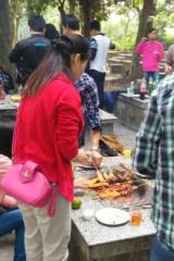国庆在泉林旅游山庄聚烧烤