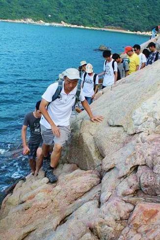 深圳最美海滩桔钓沙、七星湾穿越、碧海蓝天里泡茶