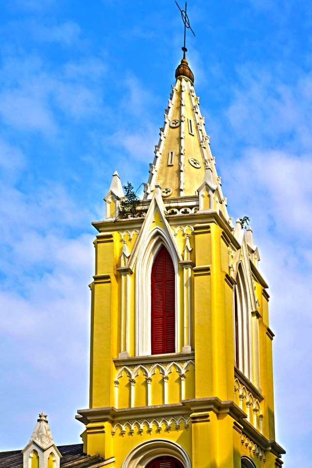 坐地铁游广州圣心教堂、红砖厂、沙面、广州塔