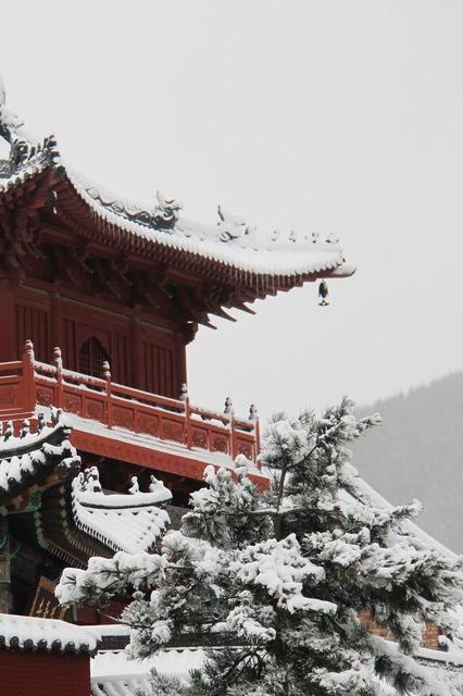 11月11五台山徒步赏雪景