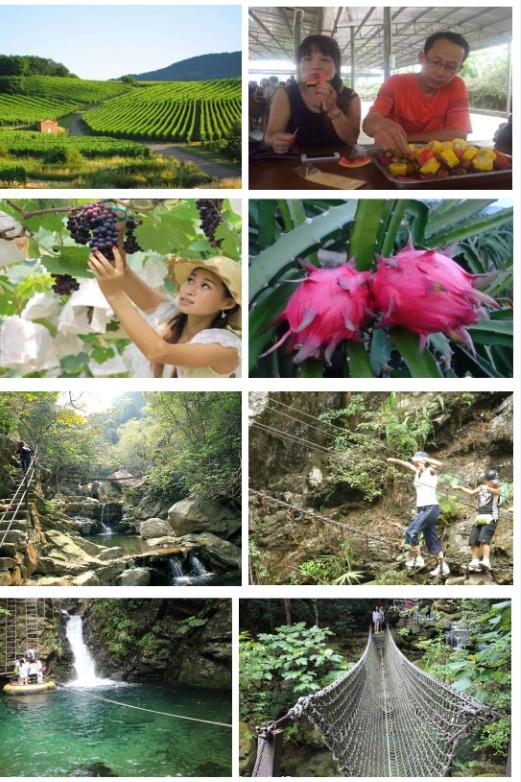清远溯溪探险、水果餐(5-6种)、特色烧鸡宴1天游