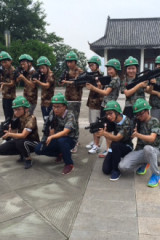 8月7日日人民公园真人对抗赛