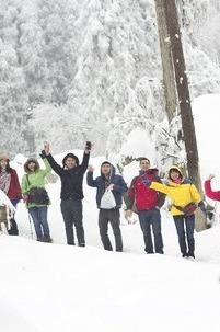 【一日游】元旦,龙池看雪,徒步。