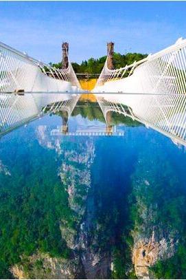 世界之最张家界大峡谷玻璃桥