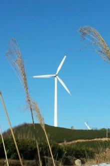 12月4日,周日,东白山,在风车和蓝天下放逐