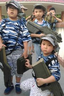 7月12日凤肚公园暑假真人CS亲子活动开战了。。。