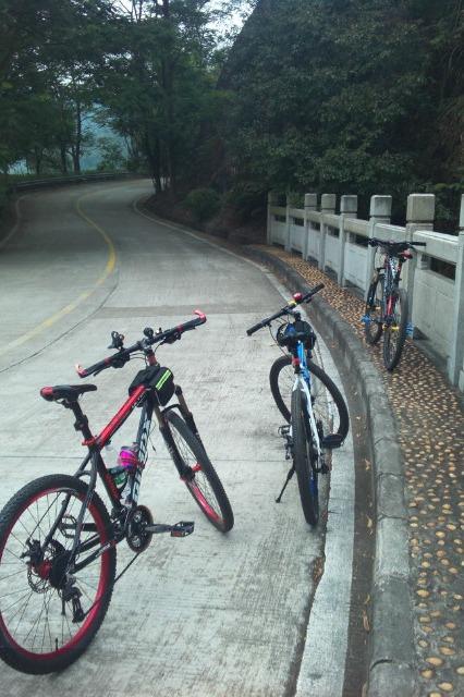 骑行大岭山森林公园