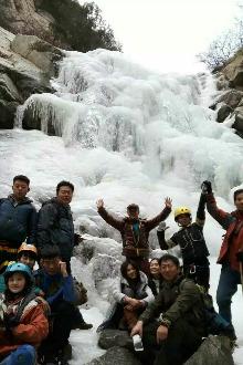 罗涧峪登山攀岩锁降观冰瀑(全穿)