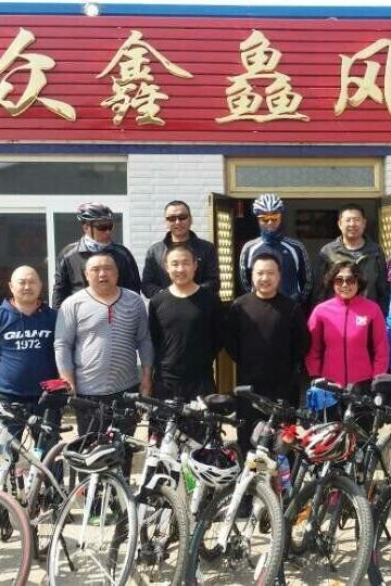 2016.3.26骑行南城子水库吃活鱼