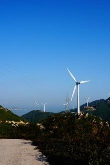 1月11日穿越珠海高栏港海岸,听海、赏大风车
