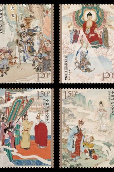 5月3日《西游记》特种邮票匡山首发式