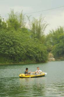 清水河游泳,划艇