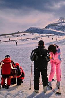 天冷了-去即墨金山滑雪场滑雪吧